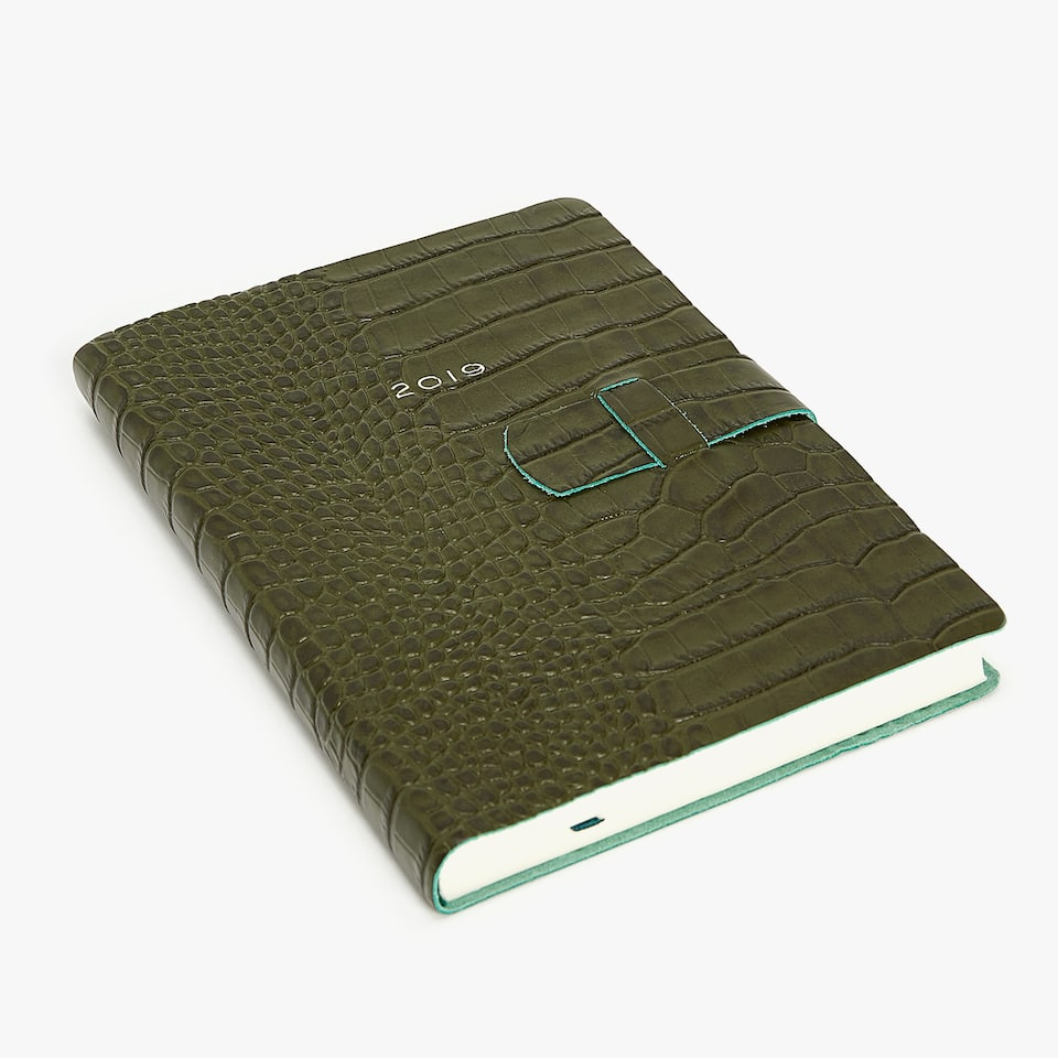 DIARY WITH RAISED MOCK CROC DESIGN