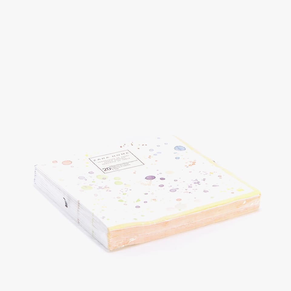 WATERCOLOUR DOTS PAPER NAPKINS (PACK OF 20)