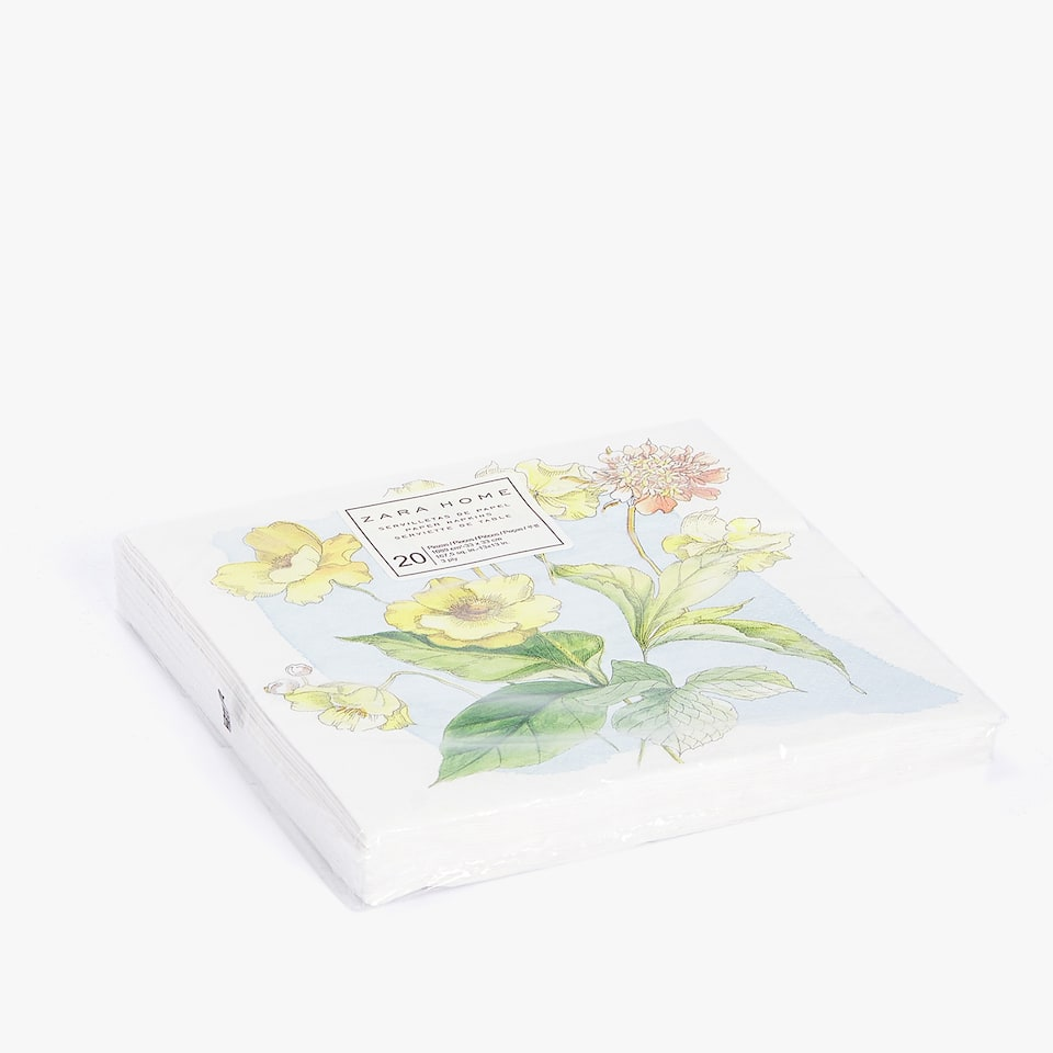 BOTANIC PRINT PAPER NAPKINS (PACK OF 20)