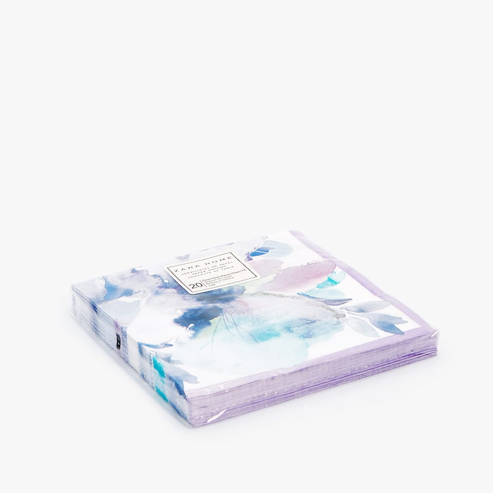 WATERCOLOUR PRINT PAPER NAPKINS (PACK OF 20)