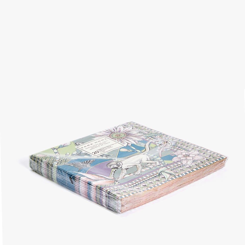 FLORAL PRINT PAPER NAPKINS (PACK OF 20)