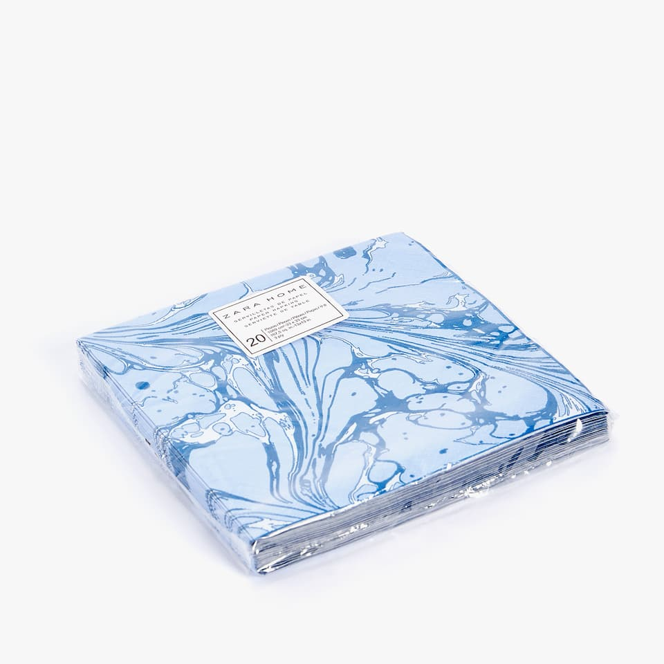 MARBLED PRINT PAPER NAPKINS (PACK OF 20)