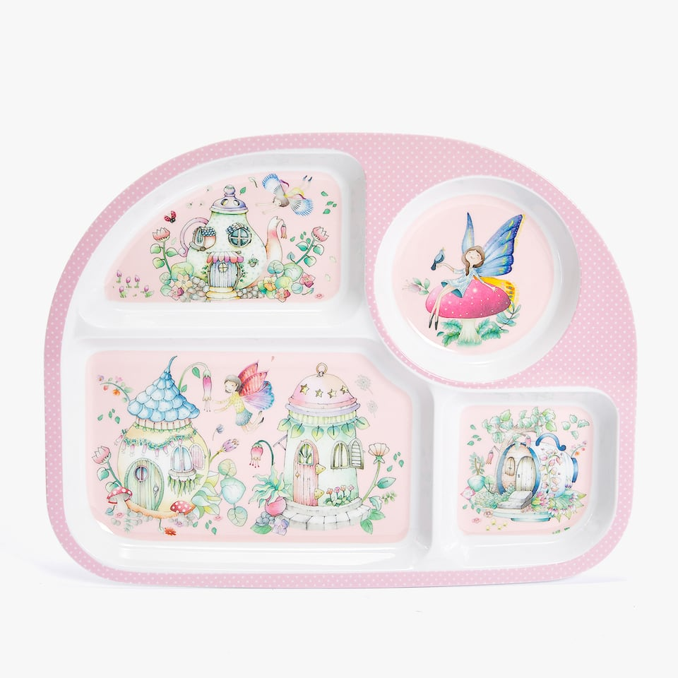 FAIRYTALE HOUSE MELAMINE TRAY