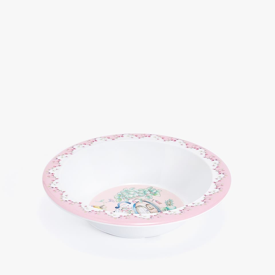 FAIRYTALE HOUSE MELAMINE BOWL