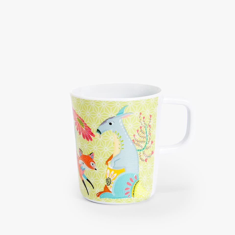 MUG MELAMINA ANIMALES BOSQUE KIDS