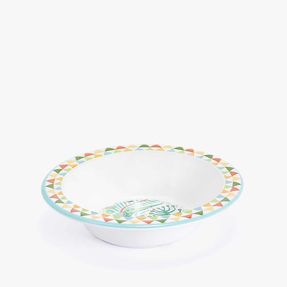 FOREST ANIMALS MELAMINE BOWL