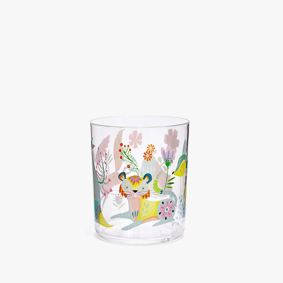 VASO ANIMALES BOSQUE KIDS
