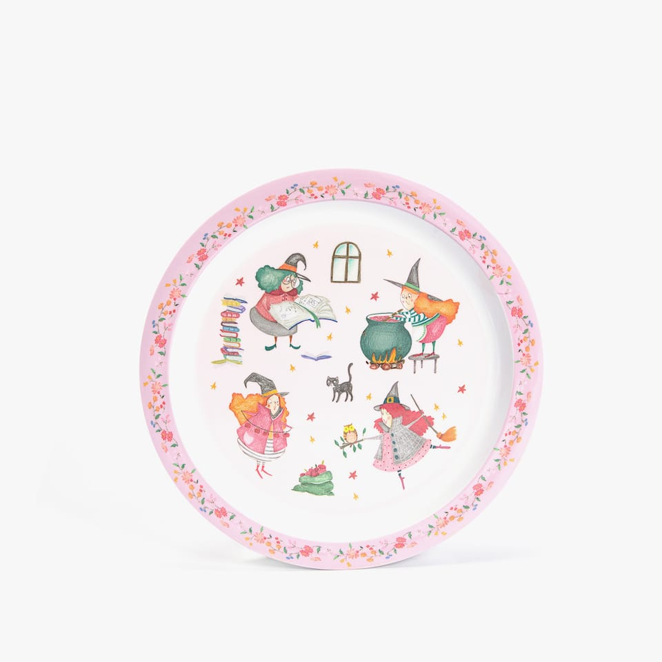 WITCHES MELAMINE PLATE