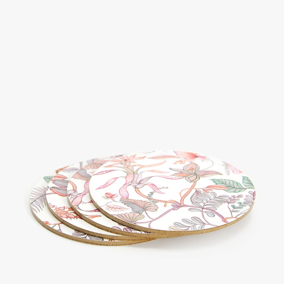 TROPICAL PRINT COASTER (PACK OF 4)
