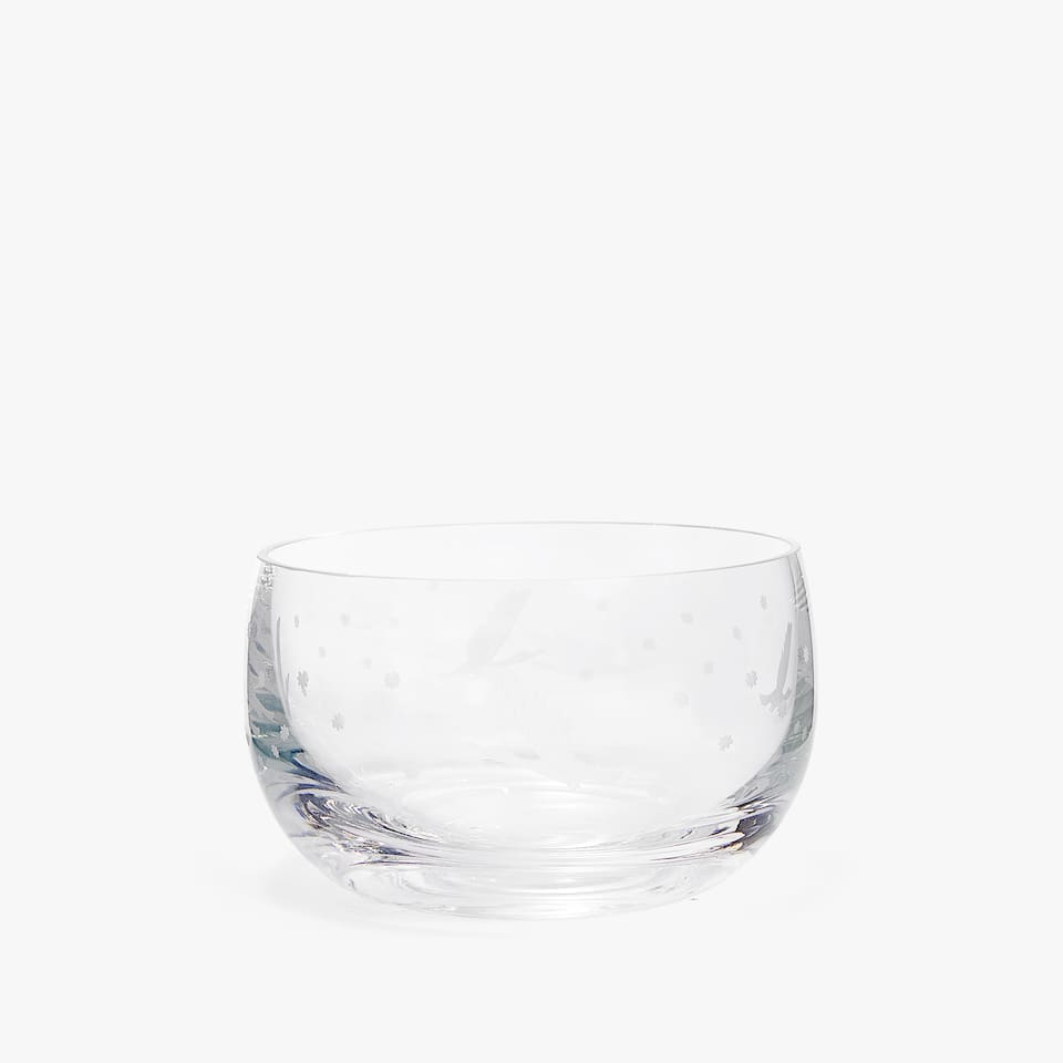 CRYSTALLINE GLASS BOWL