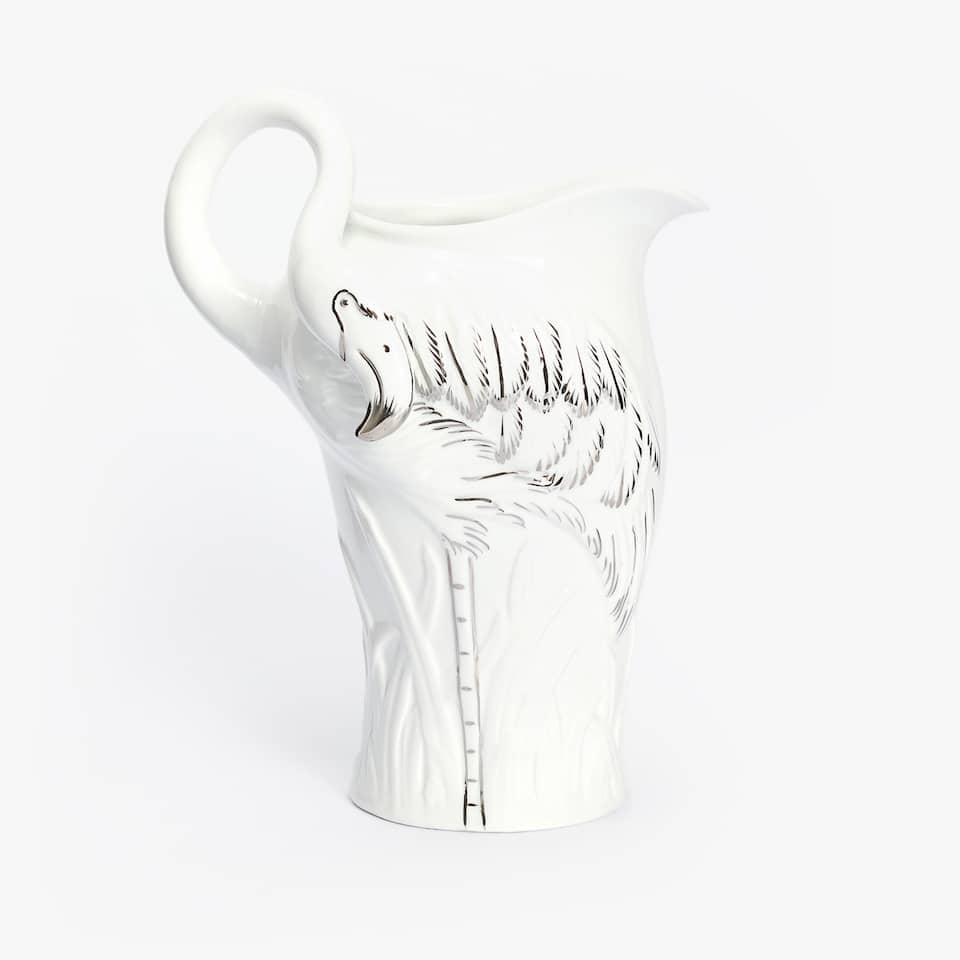 FLAMINGO PORCELAIN JUG