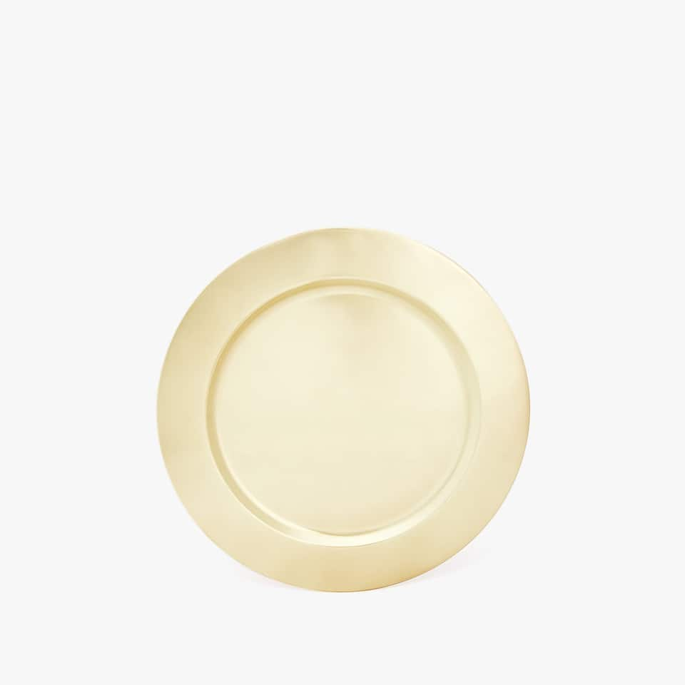 MATTE GOLD STEEL SIDE PLATE