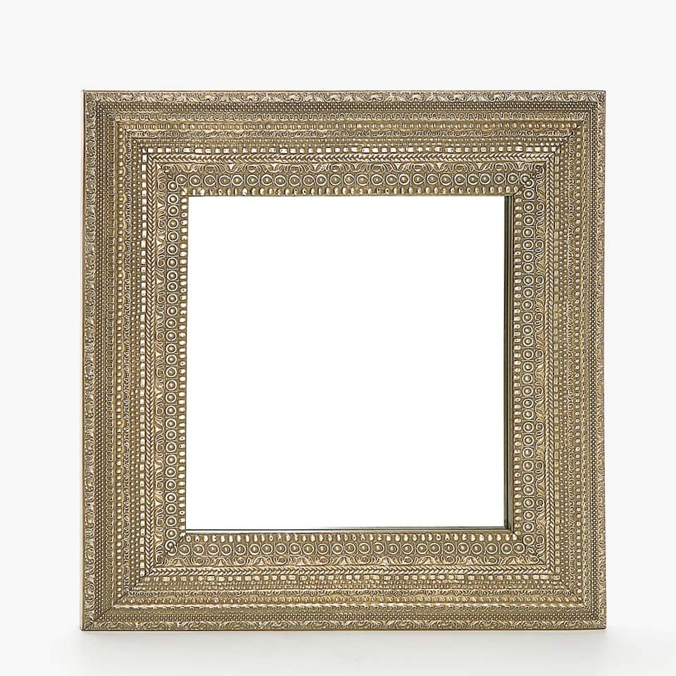 RAISED DESIGN FRAME MIRROR