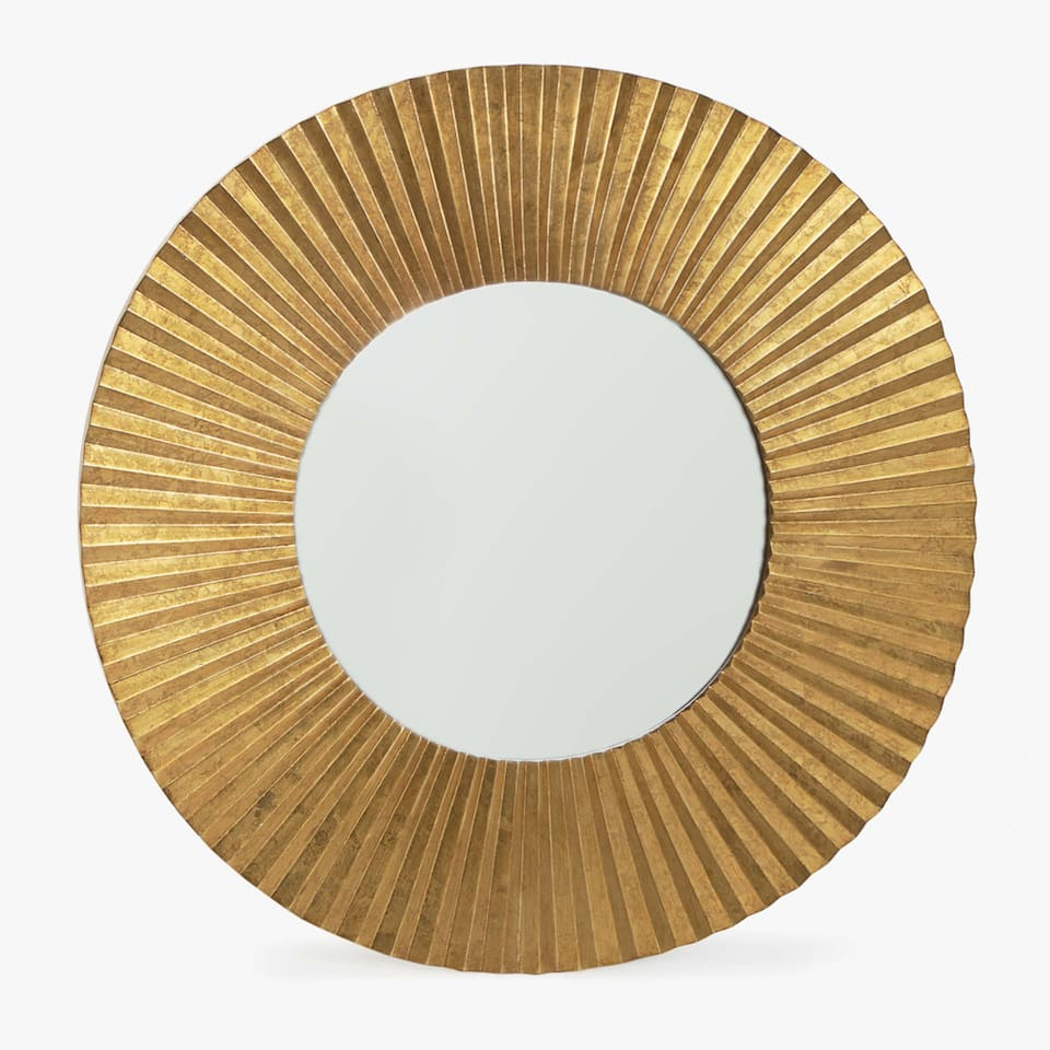 ROUND RAISED DESIGN MIRROR