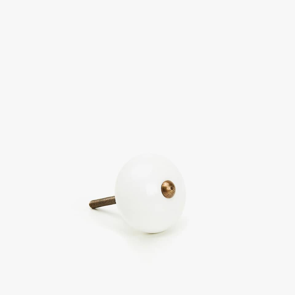 PLAIN EARTHENWARE DOOR KNOB (SET OF 2)