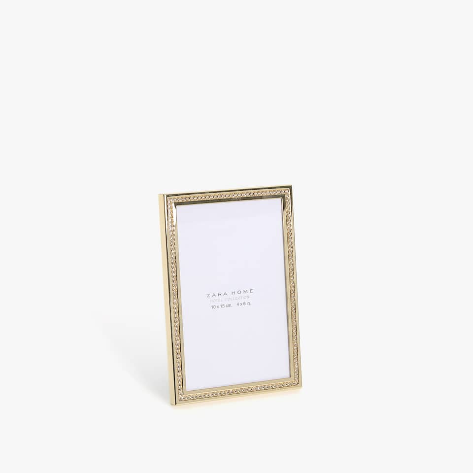GOLD METAL FRAME WITH RHINESTONES