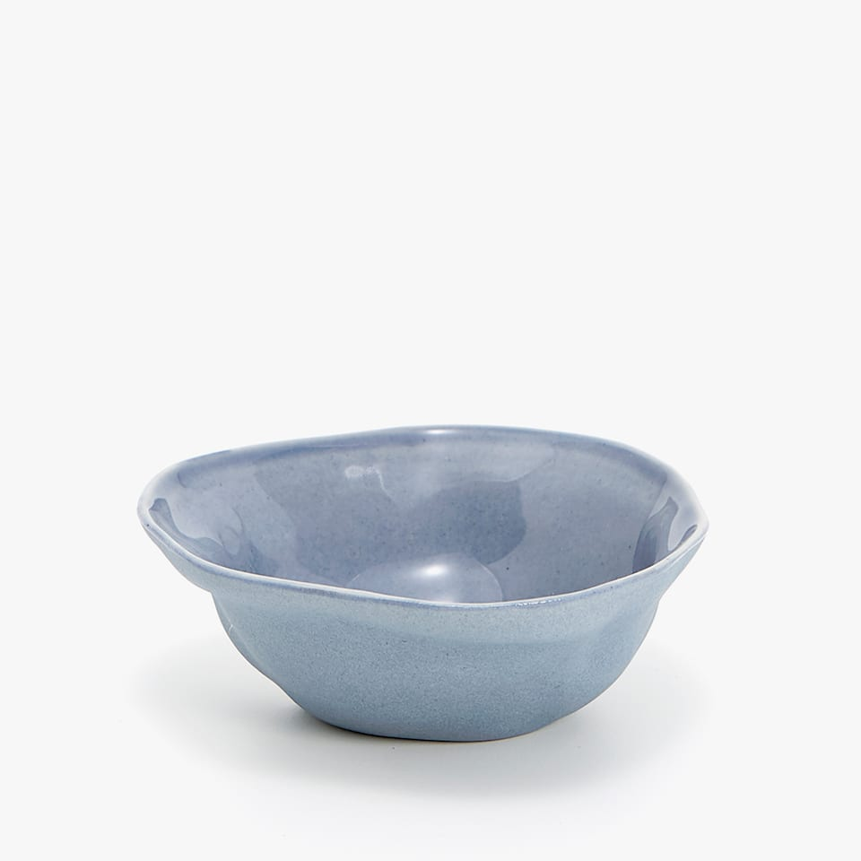 MINI IRREGULAR STONEWARE BOWL