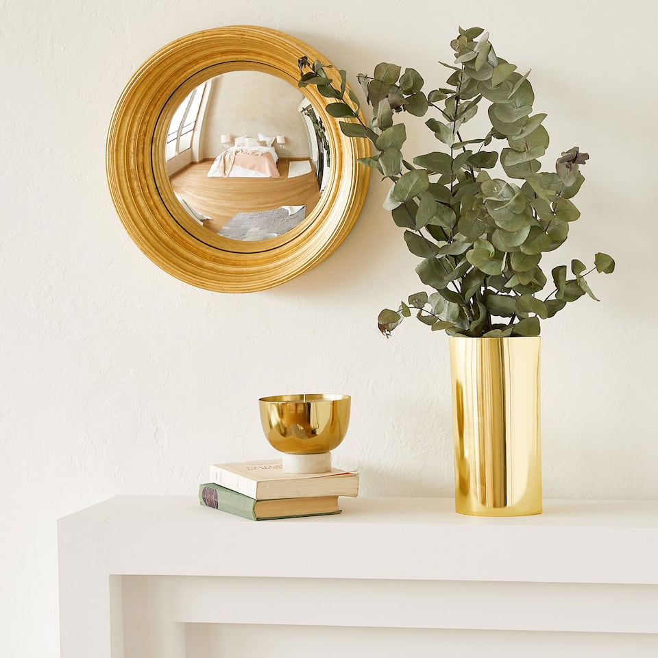 GOLDEN CONVEX MIRROR