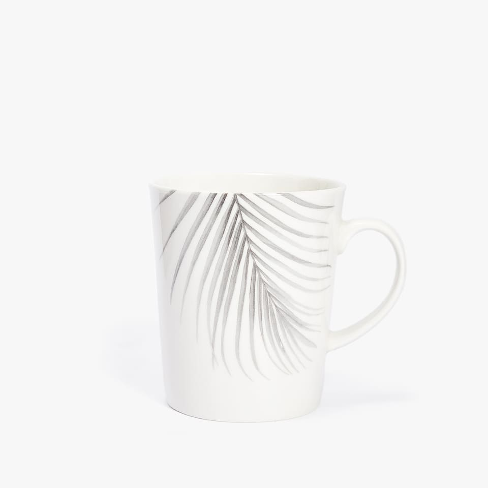 PALM LEAF PORCELAIN MUG