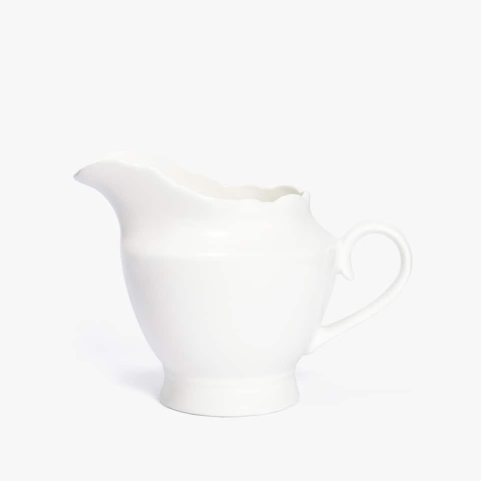WHITE PORCELAIN MILK JUG