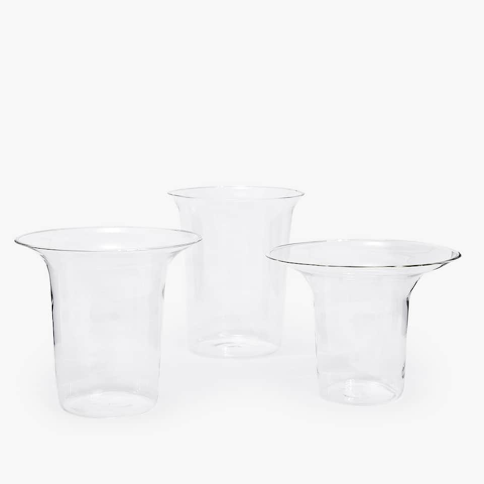 BOROSILICATE GLASS VASE (SET OF 3)