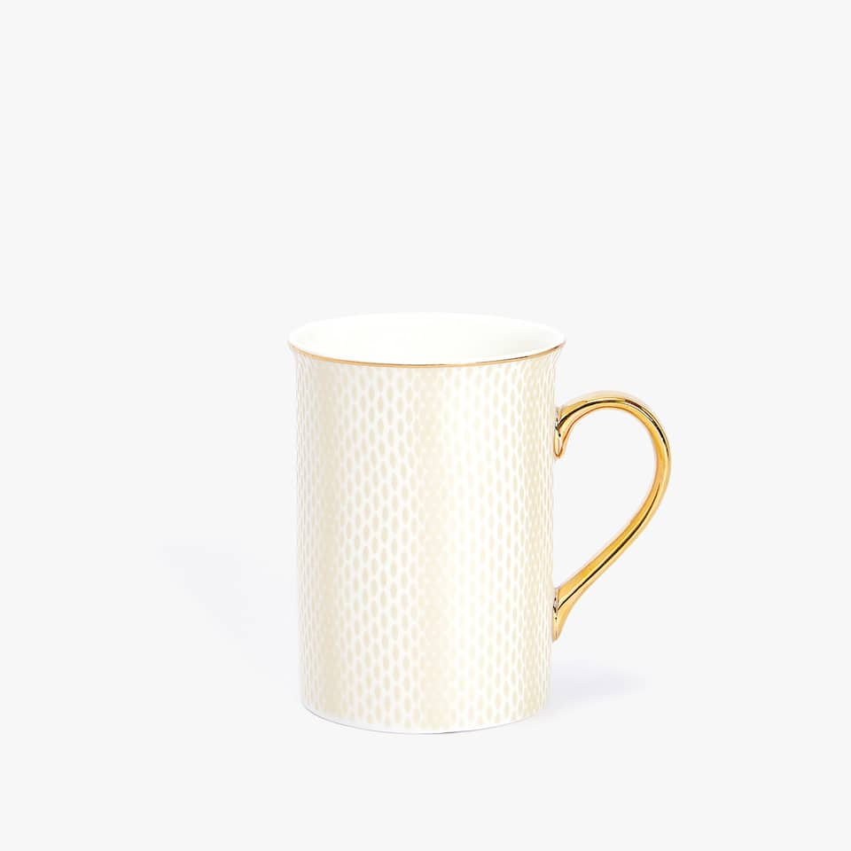 PORCELAIN MUG WITH RIM