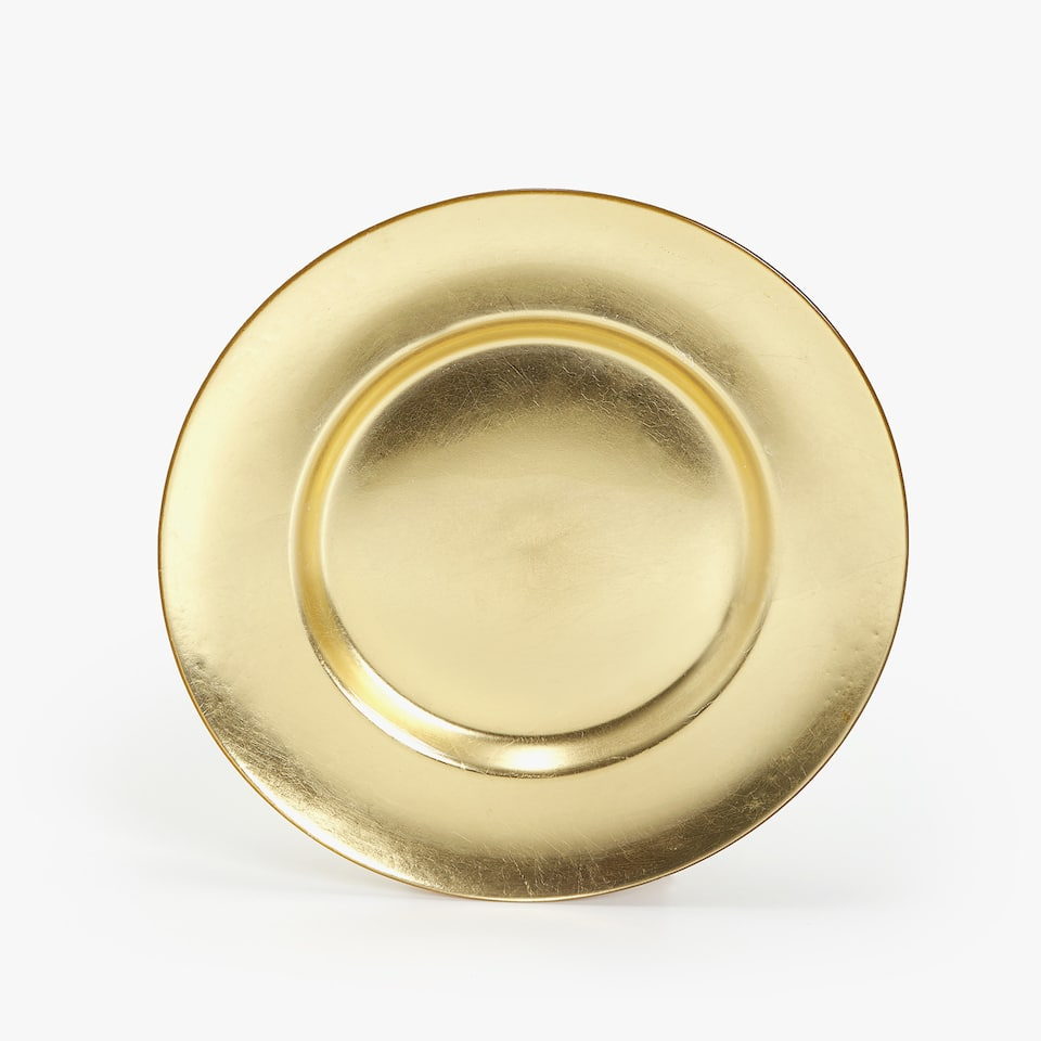 GOLDEN GLASS CHARGER PLATE