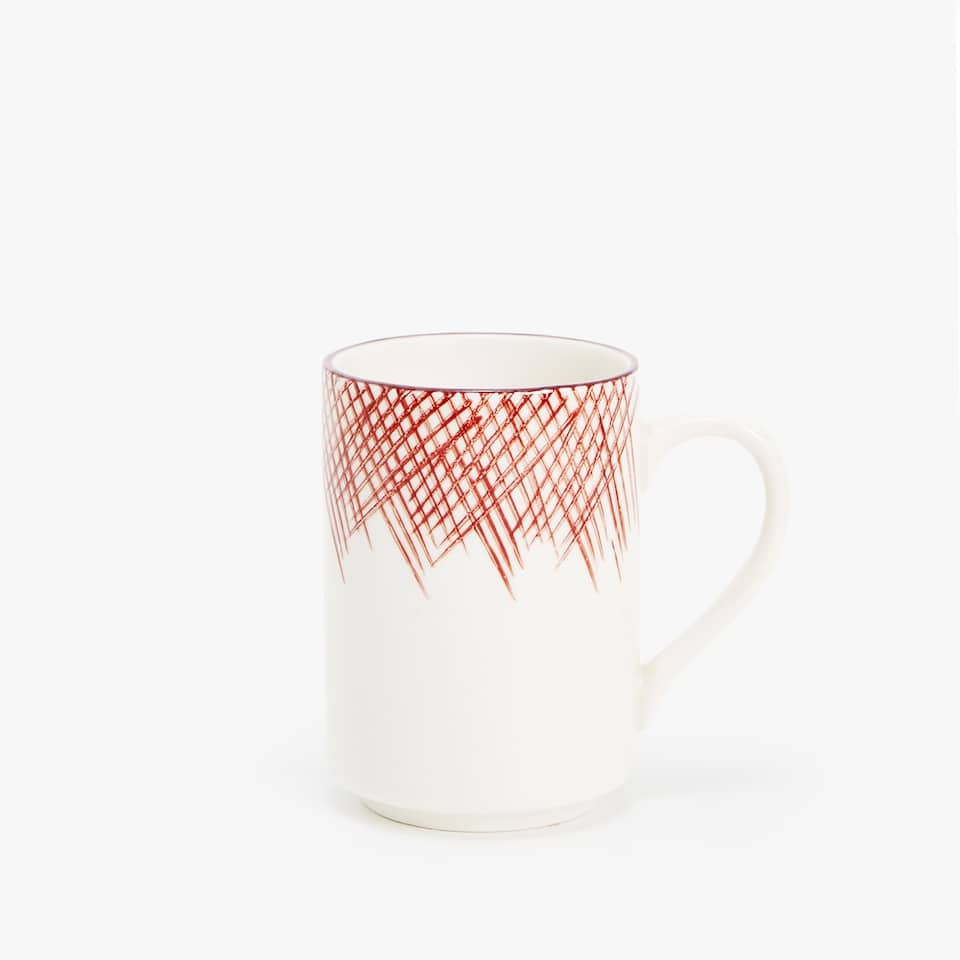STRIPED PORCELAIN MUG