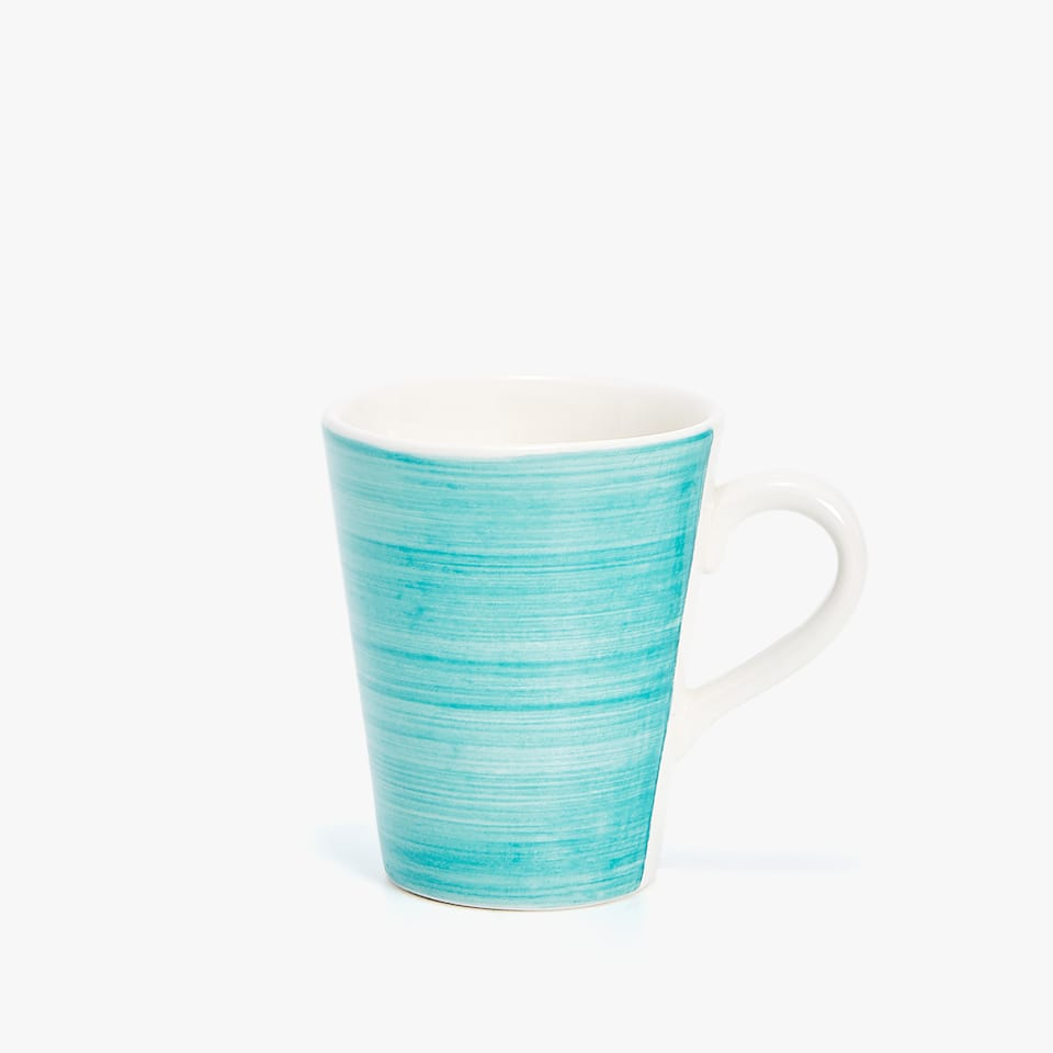 CHINA MUG WITH SPIRAL DESIGN