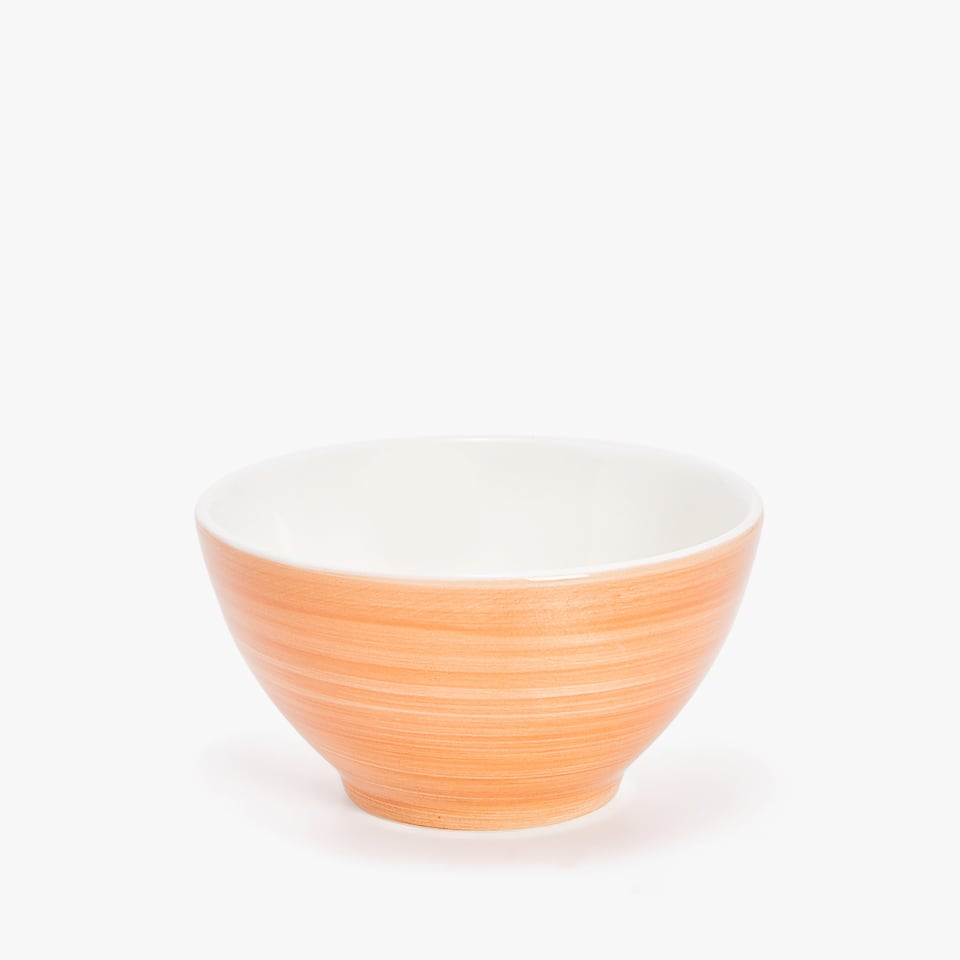 CHINA BOWL WITH SPIRAL DESIGN