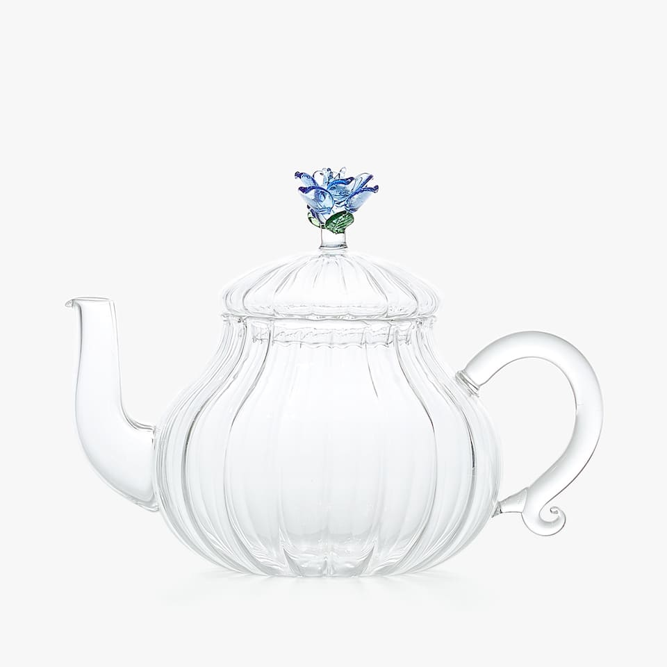 SCALLOPED GLASS TEAPOT
