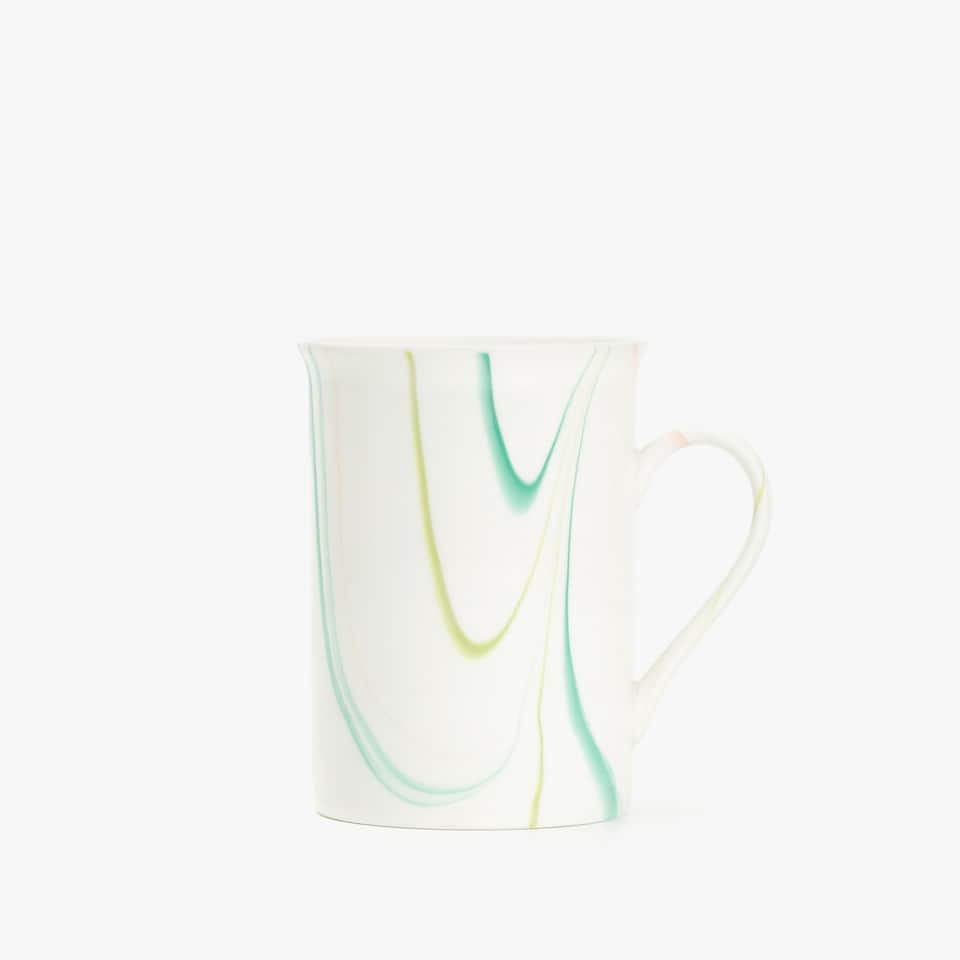 MULTICOLOURED GLAZED MUG