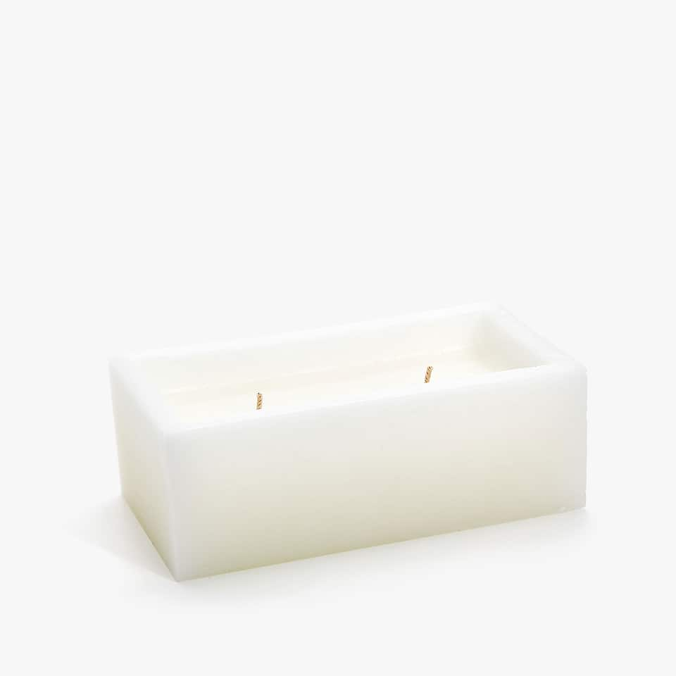 DOUBLE BLOCK-SHAPED CANDLE