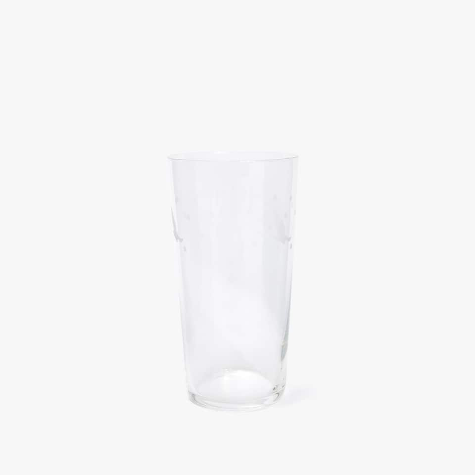 ENGRAVED DUCK SOFT DRINK TUMBLER