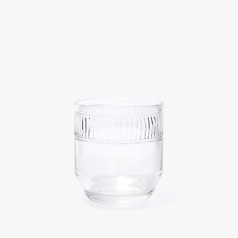 STRIPED BAND GLASS TUMBLER