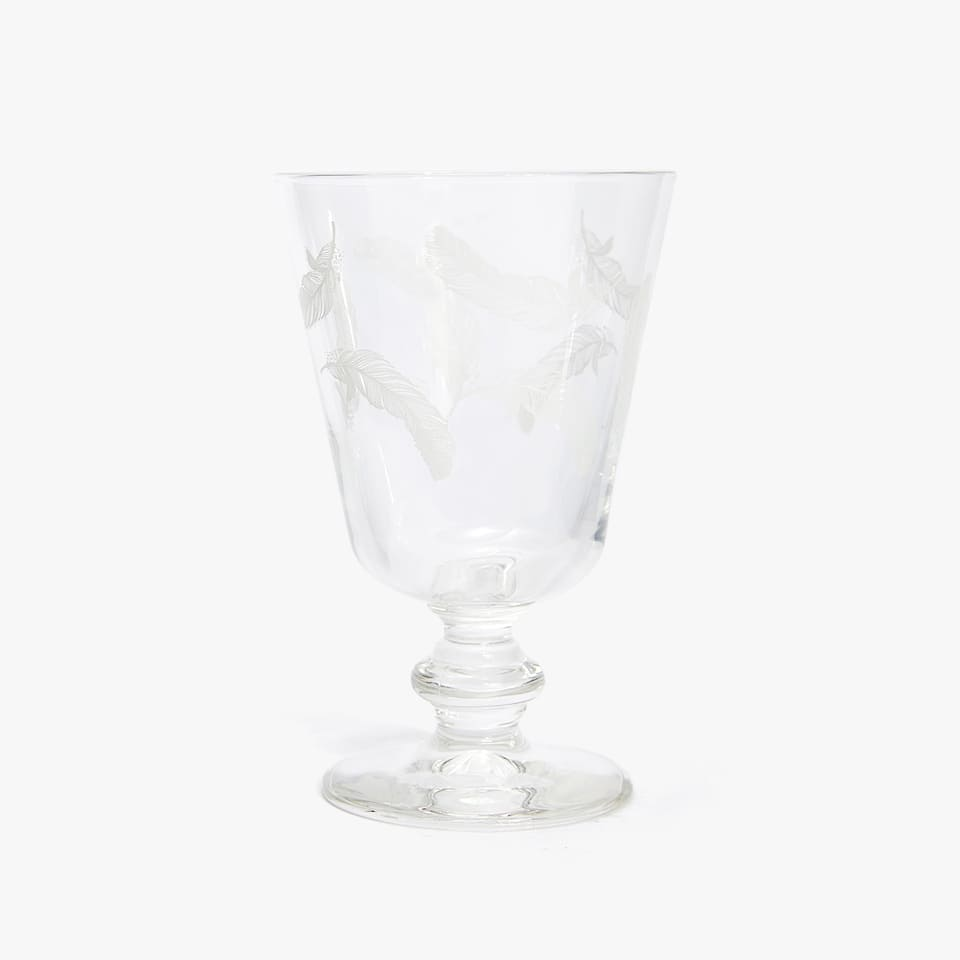 FEATHERS WINE GLASS