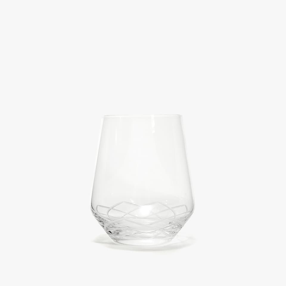 LOTUS FLOWER GLASS TUMBLER