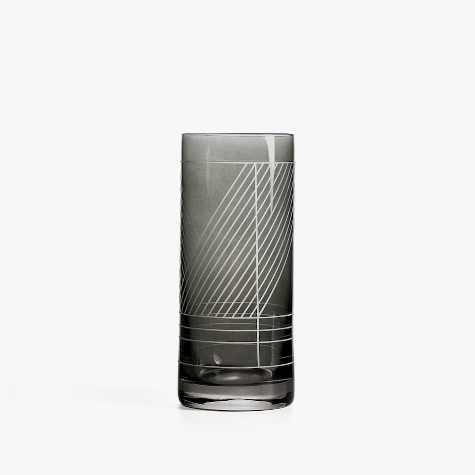 GEOMETRIC DESIGN SOFT DRINK TUMBLER