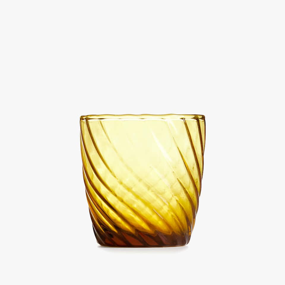 TWISTED GLASS TUMBLER