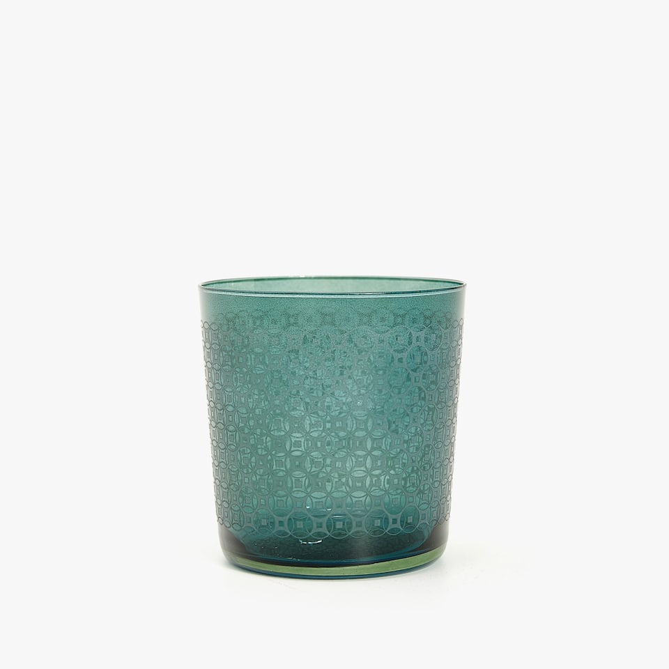 RECTANGLES GLASS TUMBLER