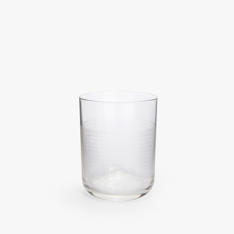 LATTICE GLASS TUMBLER