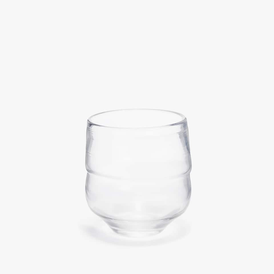ORGANICALLY-SHAPED GLASS TUMBLER