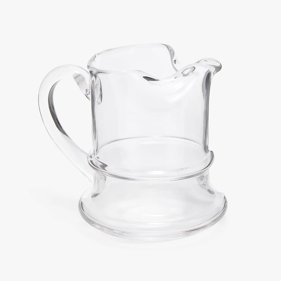 GLASS PITCHER WITH LINE DETAIL