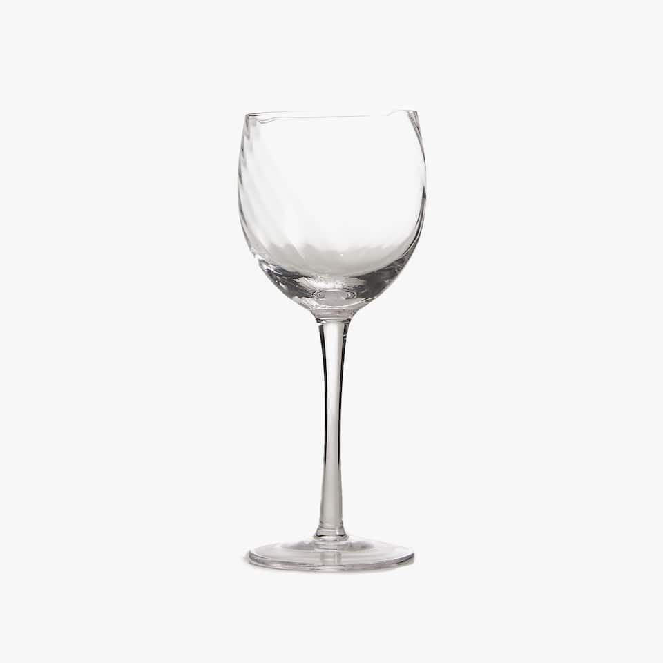 OPTICAL STRIPE WINE GLASS