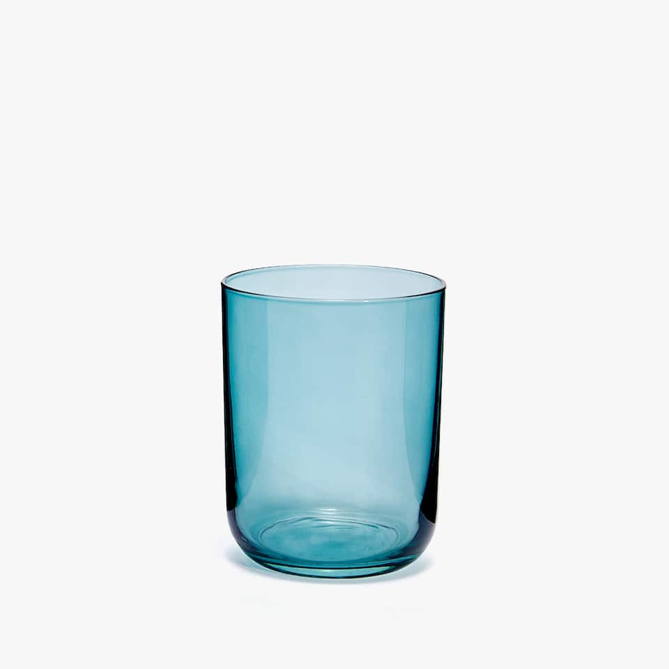 COLOURED GLASS TUMBLER