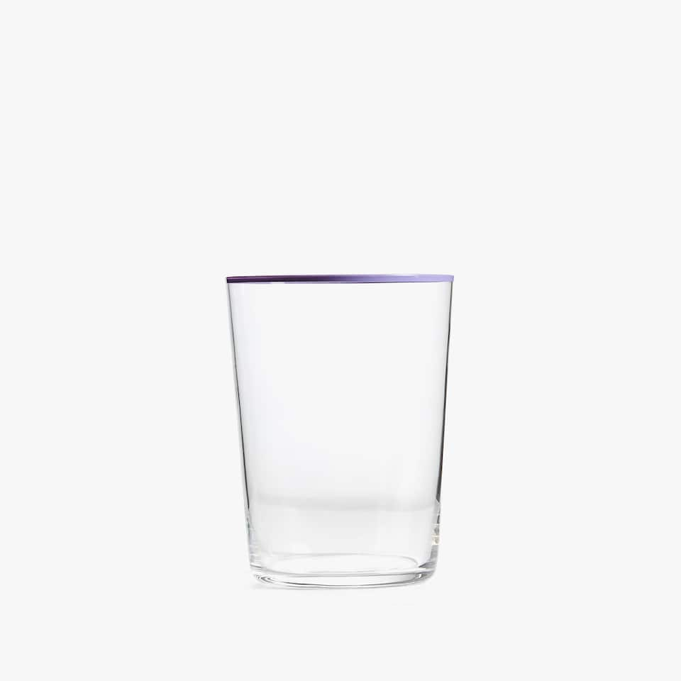 COLOURED GLASS SOFT DRINK TUMBLER