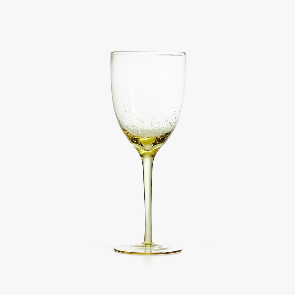 WINE GLASS WITH BUBBLE BOWL