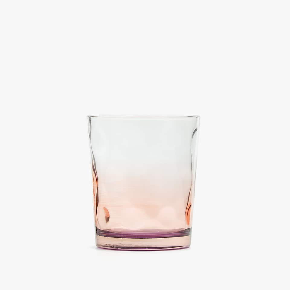 TWO-TONE BOROSILICATE GLASS TUMBLER