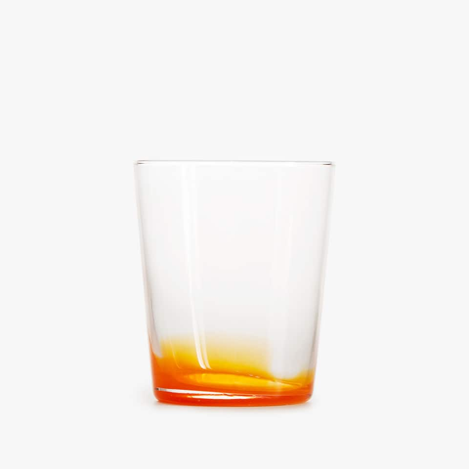 ORANGE GLASS TUMBLER