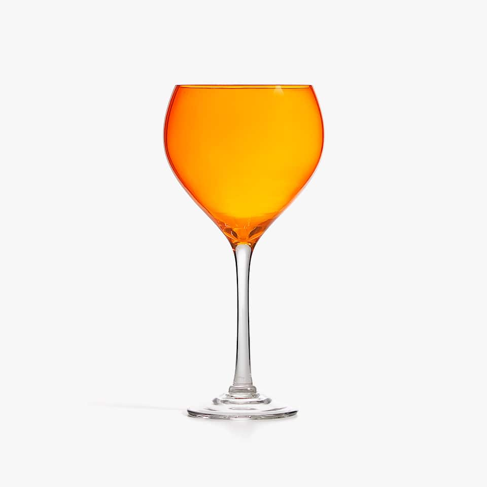 VERRE À PIED ORANGE